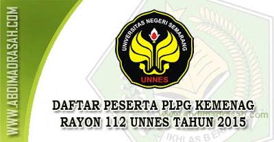 Peserta PLPG LPTK Rayon 112 UNNES Tahun 2015