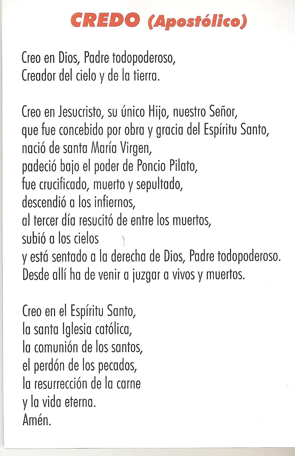 Oracion Credo Catolico  Image Mag