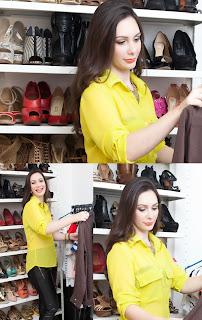 Models der weiblichen Sommer-Shirts - die Farbe Gelb ist das Highlight