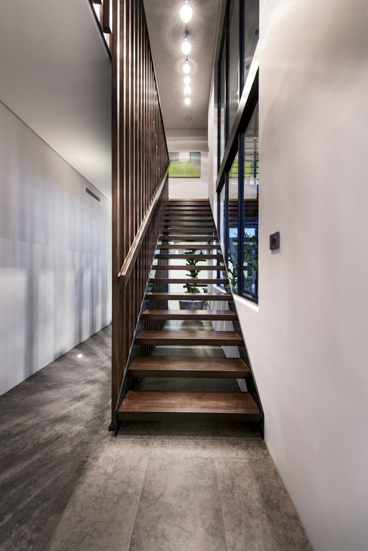Wooden stairs in The Warehaus by Residential Attitudes