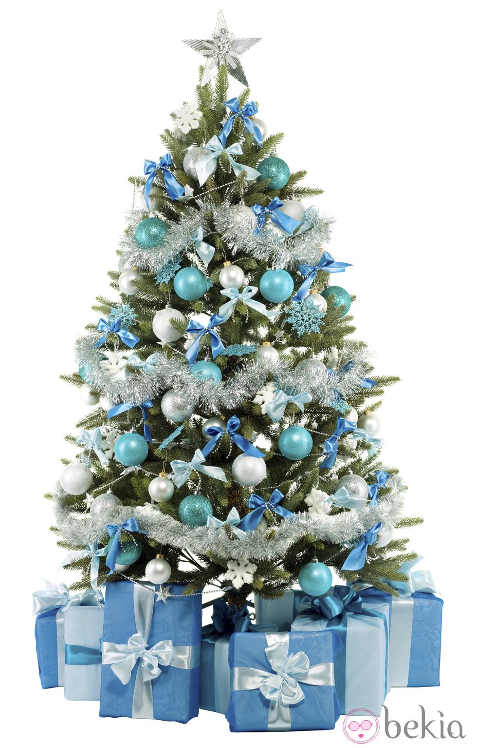 Manualidades decoraci n pintura rbol de navidad en - Arboles de navidad blanco ...