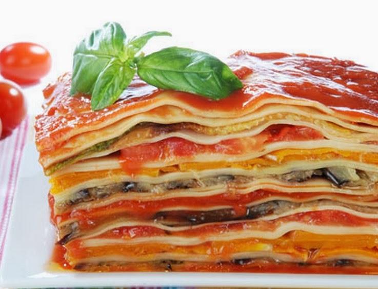 Cantinho vegetariano lasanha de vegetais vegana