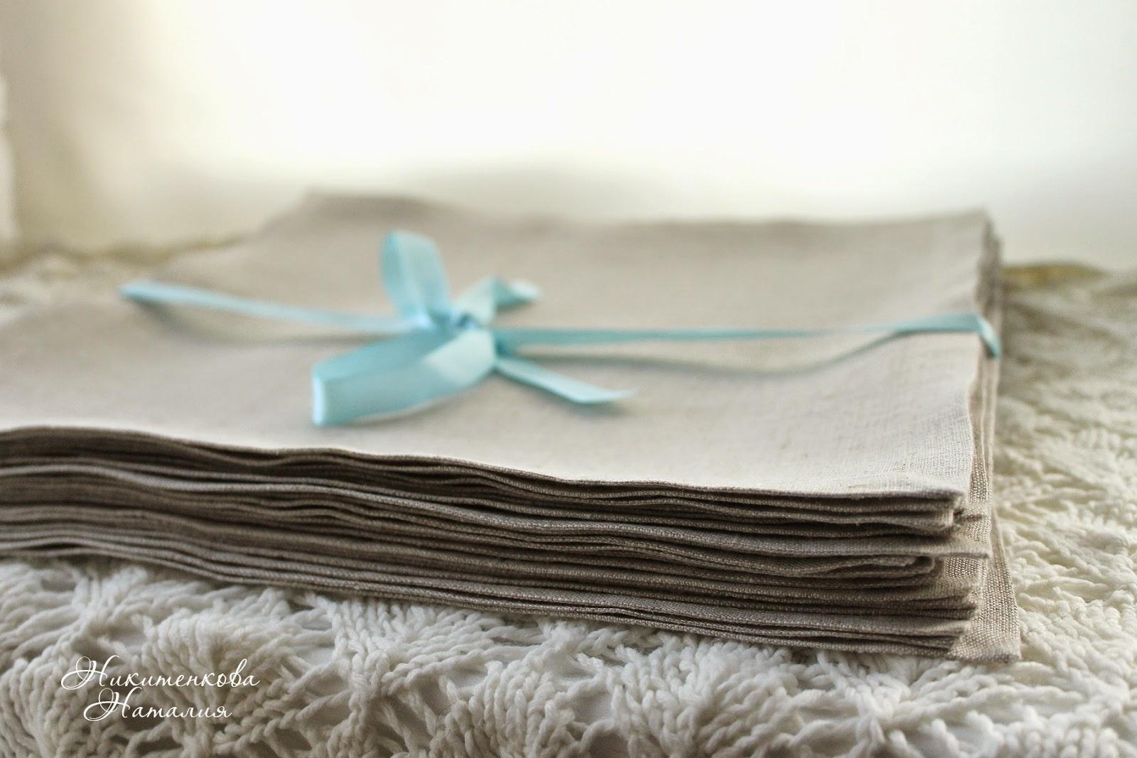 Льняные салфетки, салфетки красиво, салфетки фото, столовое белье, салфетки лен
