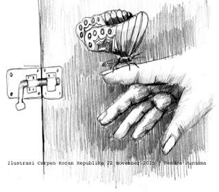 Ilustrasi Koran Republika