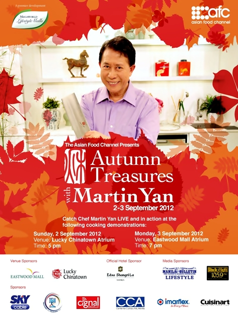 The asian food channel autumn treasures with martin yan the celebrated host of over 3000 cooking shows broadcast worldwide martin yan enjoys distinction as a certified master chef a highly respected food forumfinder Gallery