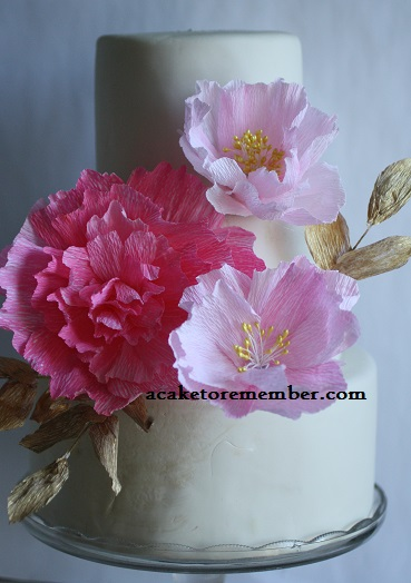 Edible Real Flowers For Cake Decorating : A Cake To Remember VA: Wafer Paper Flowers and Real Paper ...