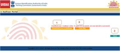 Aadhaar Card Print Slip