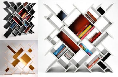 Desain Rak Buku Kayu, Gantung, Dinding, Unik, Minimalis, Perpustakaan, Sederhana, Modern