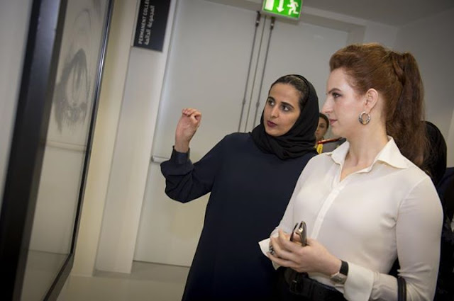Sheikha Al-Mayassa bint Hamad bin Khalifa Al-Thani, Princess Margriet of the Netherlands and HRH Princess Ghida Talal of Jordan