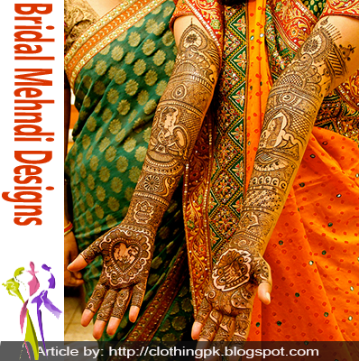 Indian Unique Bridal Mehndi Designs 2015 Collection for Girls