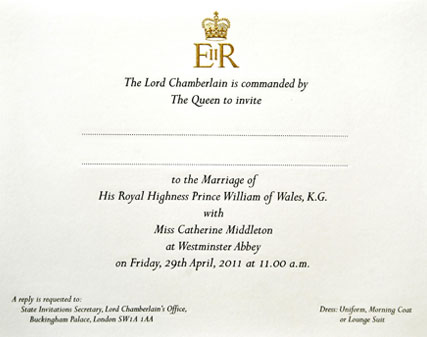 royal wedding invitation image. royal wedding invitation list.