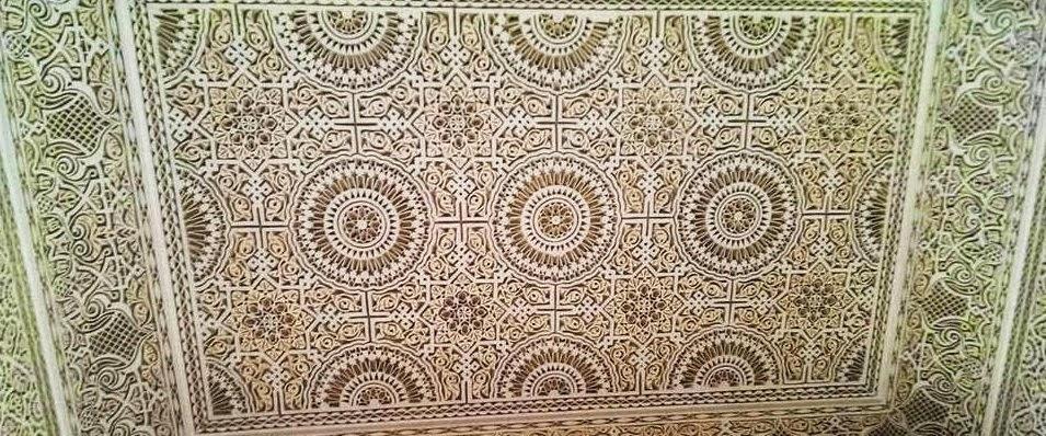 La medina tendance de faux plafond moderne de luxe for Platre sculpte marocain