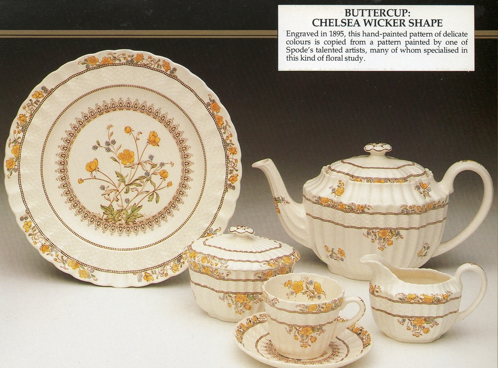 1983 catalogue page & Spode History: Spode and Buttercups and Dandelions