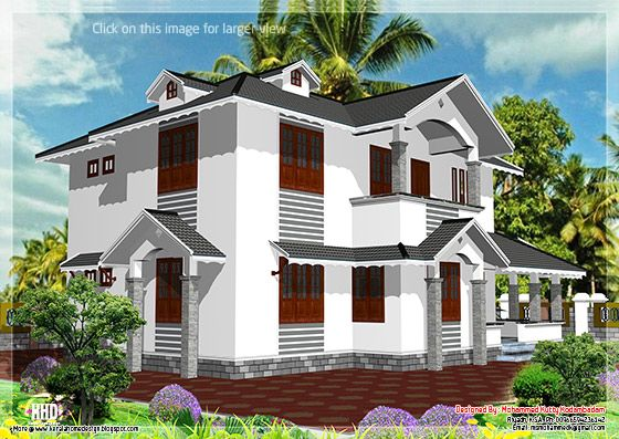 Sloped roof house design