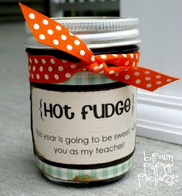 Hot Fudge Teacher Gift by Brown Paper Packages.