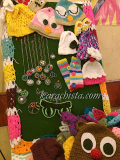 crochet hats and toys at the Crafter's Expo Karachi