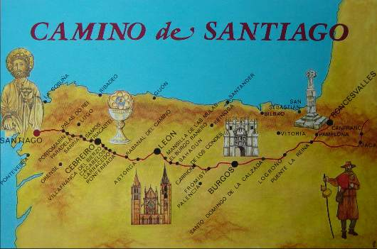 Los Caminos a Santiago en Espaa
