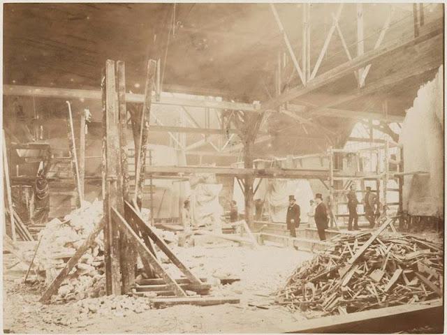 fotos antiguas de la construccion de la Estatua de la Libertad