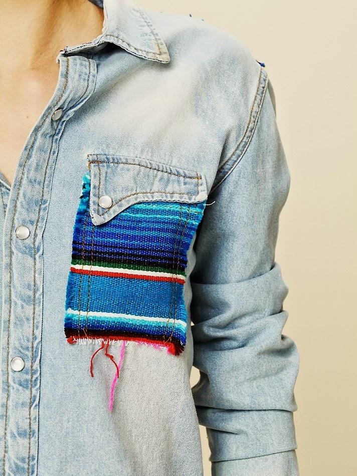 Украсить воротник джинсовой куртки