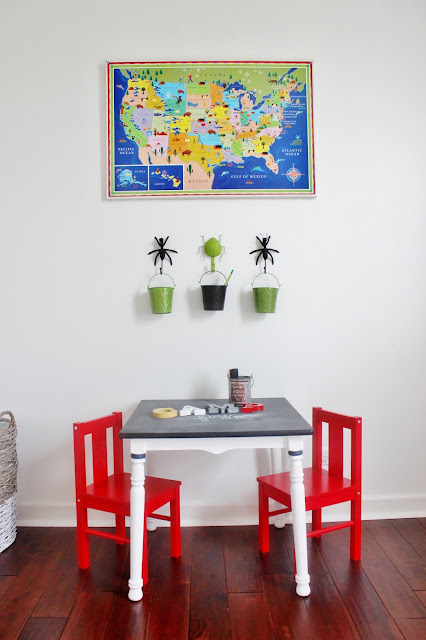 Kid's Chalkboard Table Makeover. A simple way to breathe life back into thrift store finds!