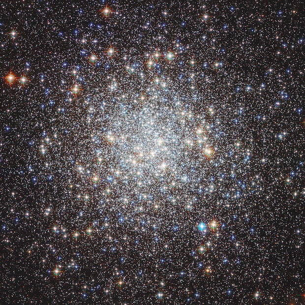 Globular Cluster M9 as imaged by Hubble