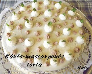 Kávés-mascarponés torta