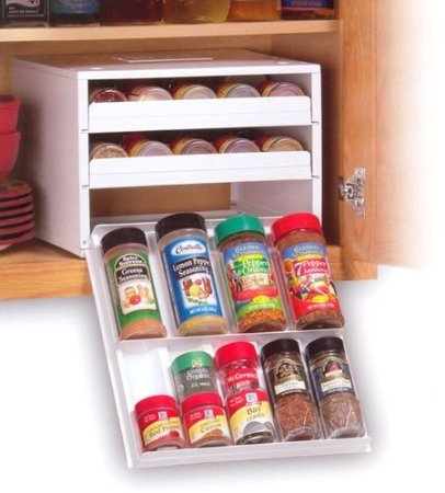Reorganized simplicity reorganized home challenge week 6 for Carousel spice racks for kitchen cabinets