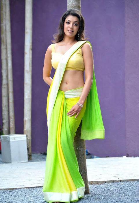 kajal agarwal test saree in business man glamour  images