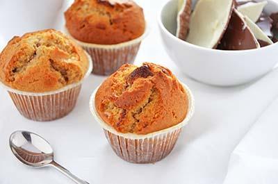 Muffin con cioccolato Kinder
