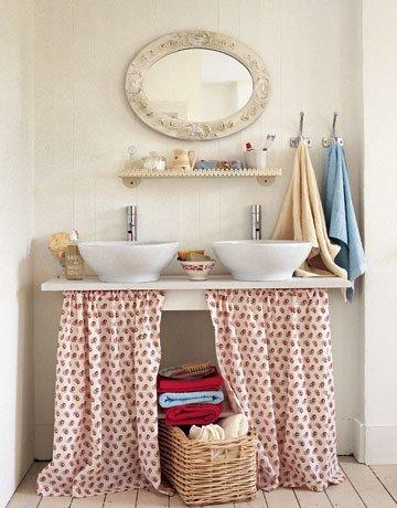 Diy burlap kitchen curtains - Decora 231 227 O Barata Cortina Para Pia Reciclar E Decorar