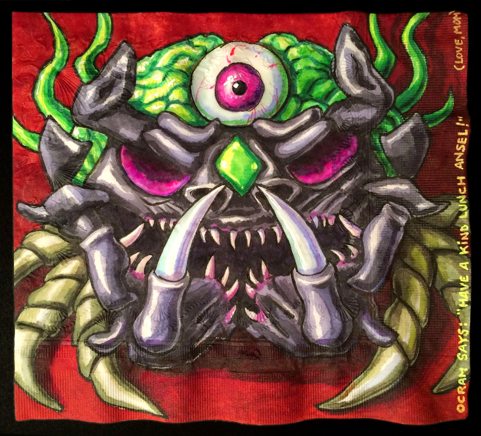 Daily Napkins: Terraria Boss Ocram, Second Form