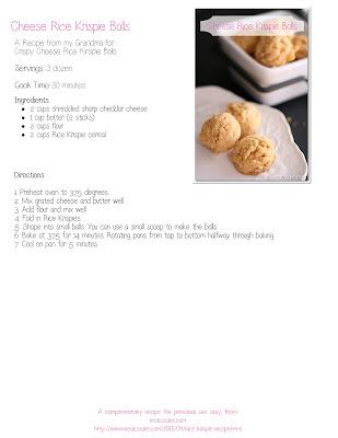 Rice Krispie Recipe {Grandma's Cheese Rice Krispie Balls}