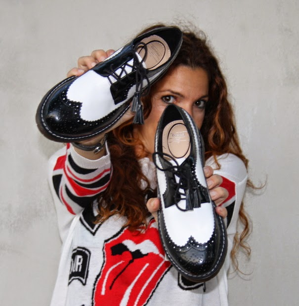 zapatos masculonos blanco negro