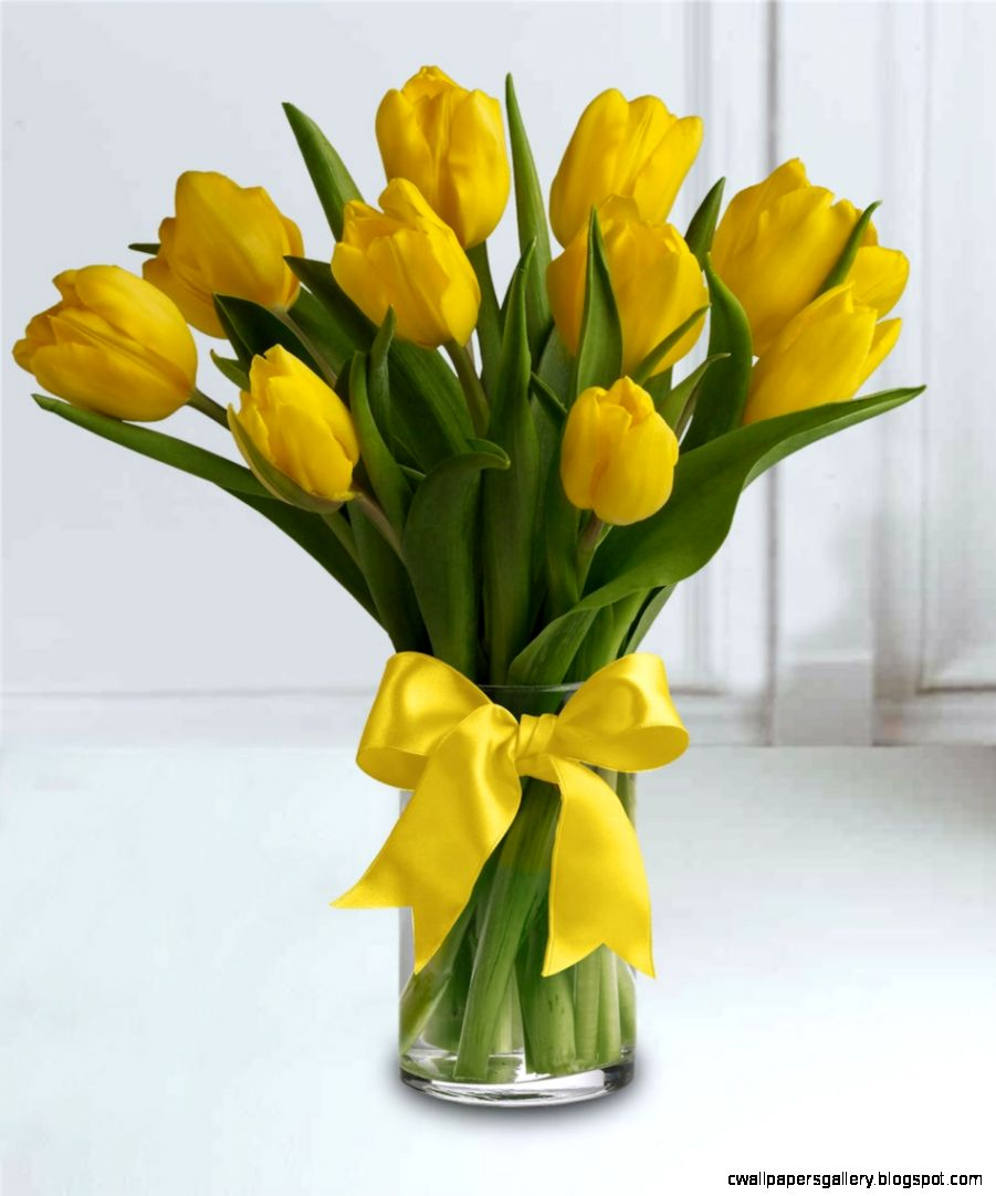 Sunny Yellow Tulips   Fl Arrangements   French Florist   Los
