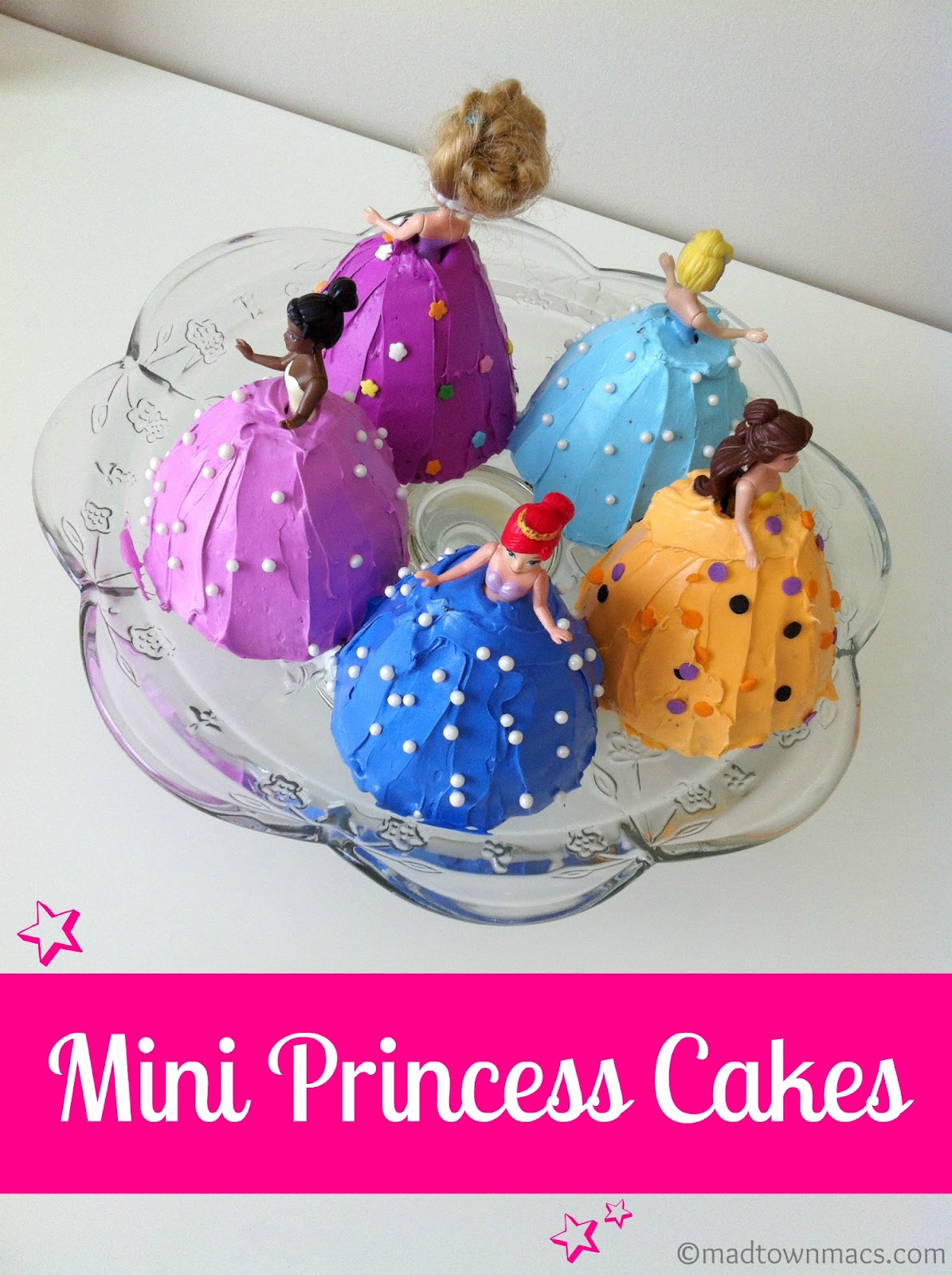 Mini princess cakes charisa darling