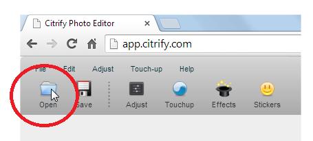 capture d'écran service Web Citrify