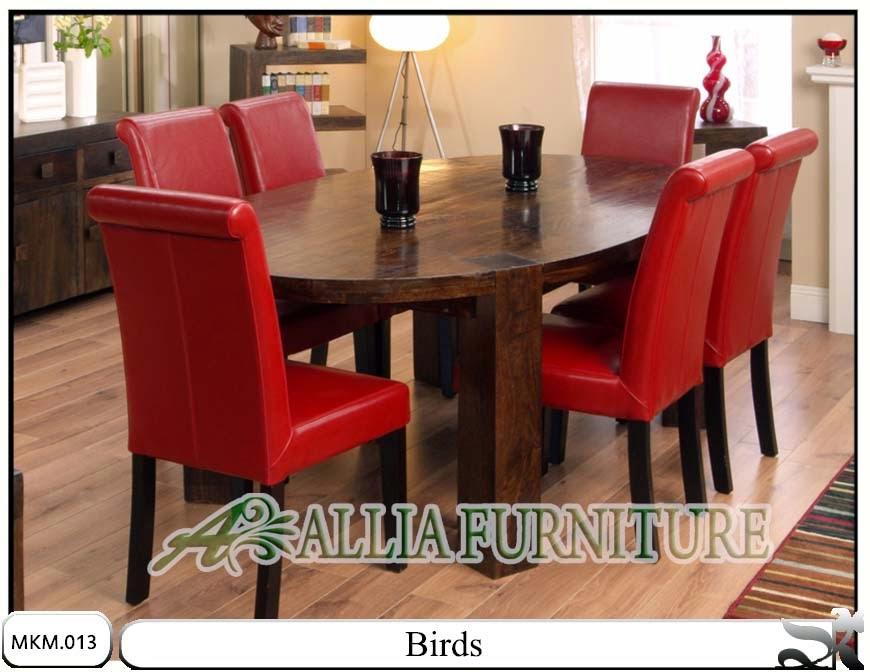 set kursi meja makan minimalis birds