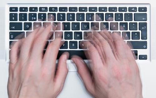 write fast on keyboard
