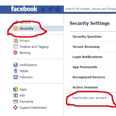 deactivate facebook account Digital Native