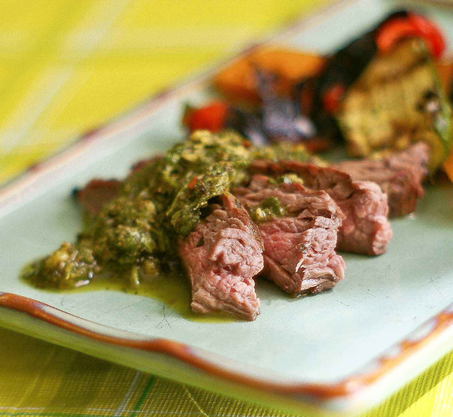 The Yum Yum Factor: Argentinian Flank Steak with Chimichurri