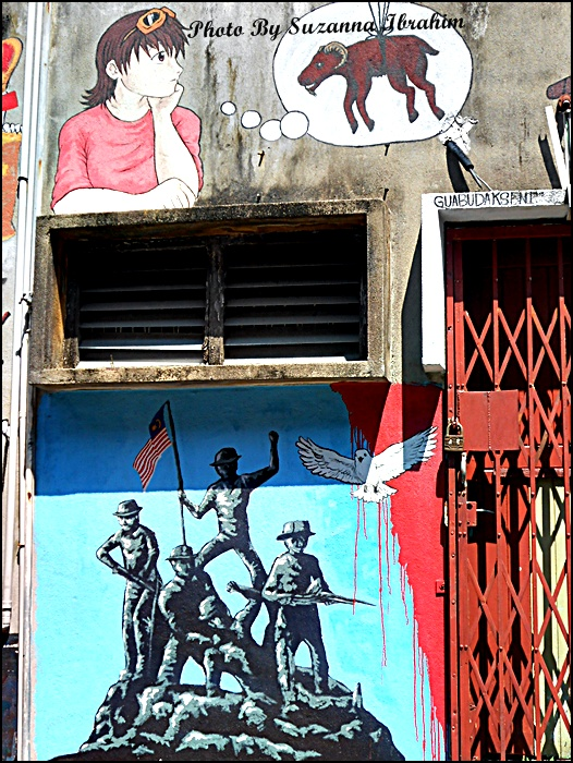 Cooking with soul street art laman seni lorong for Mural yang cantik