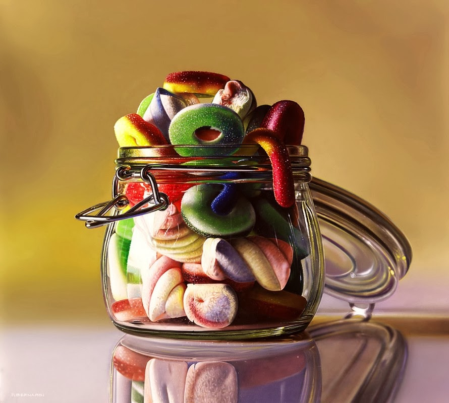 04-Il-Diamante-The-Diamond-Roberto-Bernardi-Hyper-realistic-Candy-Paintings-www-designstack-co