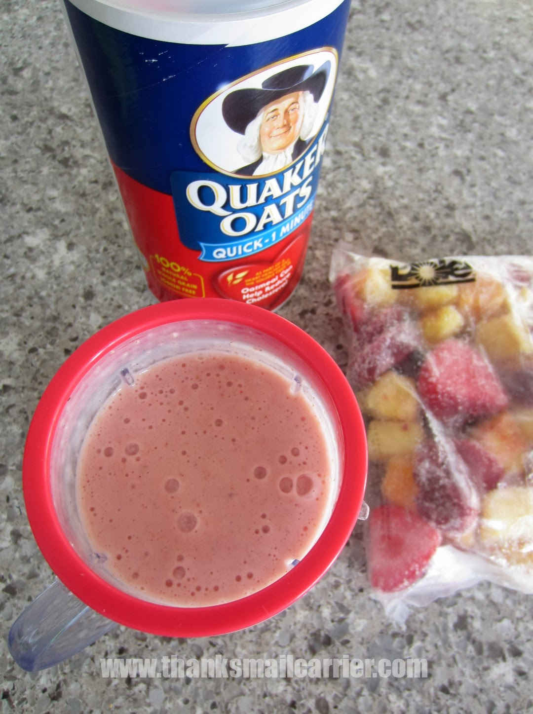 fruit oats smoothie