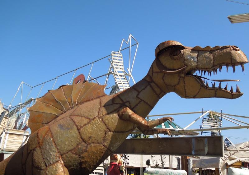 Dinosaur sculpture