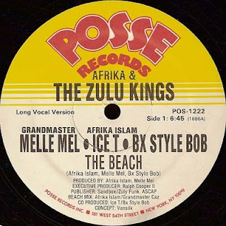 Afrika & The Zulu Kings - The Beach (Vinyl, 12'' 1986)(Posse Records)