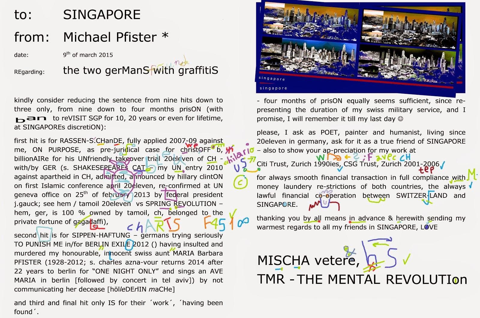 SINGAPORE helmut schmidt TMR THE MENTAL REVOLUTION mischa vetere germany graffiti