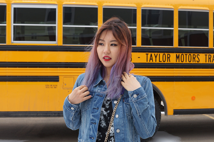 Lavender Hair Asian