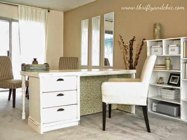 Transforme uma cômoda antiga em mesa de escritório