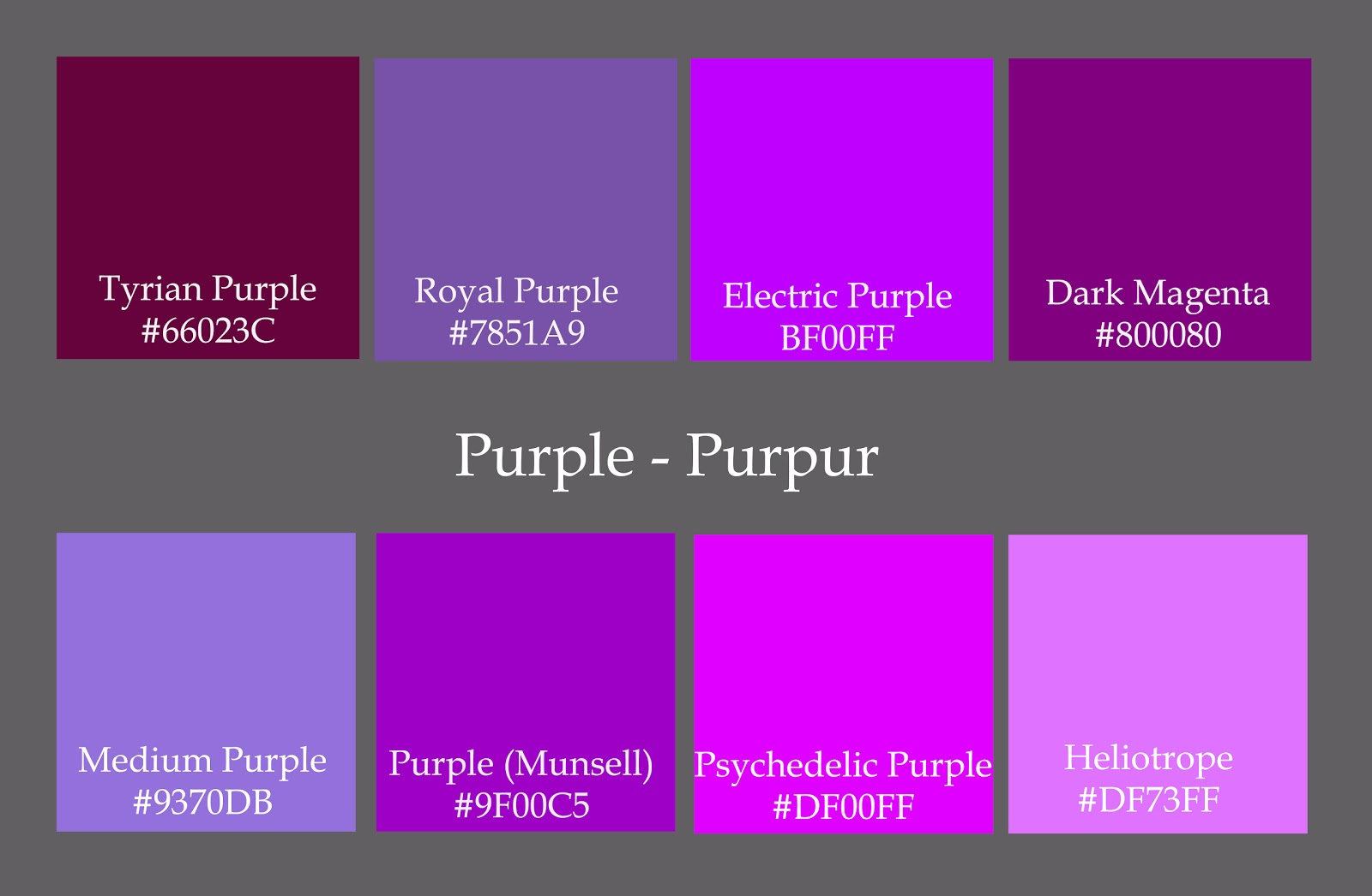 Purple Color Names Pictures To Pin On Pinterest Pinsdaddy