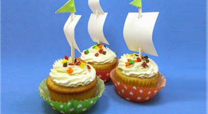 Mayflower cupcakes from Reader's Digest